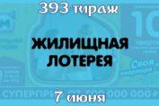 Жилищная лотерея 393 тираж